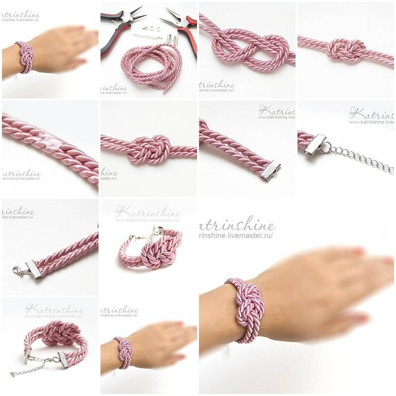 How to make bracelet with a knot of silk cord diy tutorial cord how to make bracelet with a knot of silk cord diy tutorial instructions how to how to do diy instructions crafts do it yourself diy website solutioingenieria Images