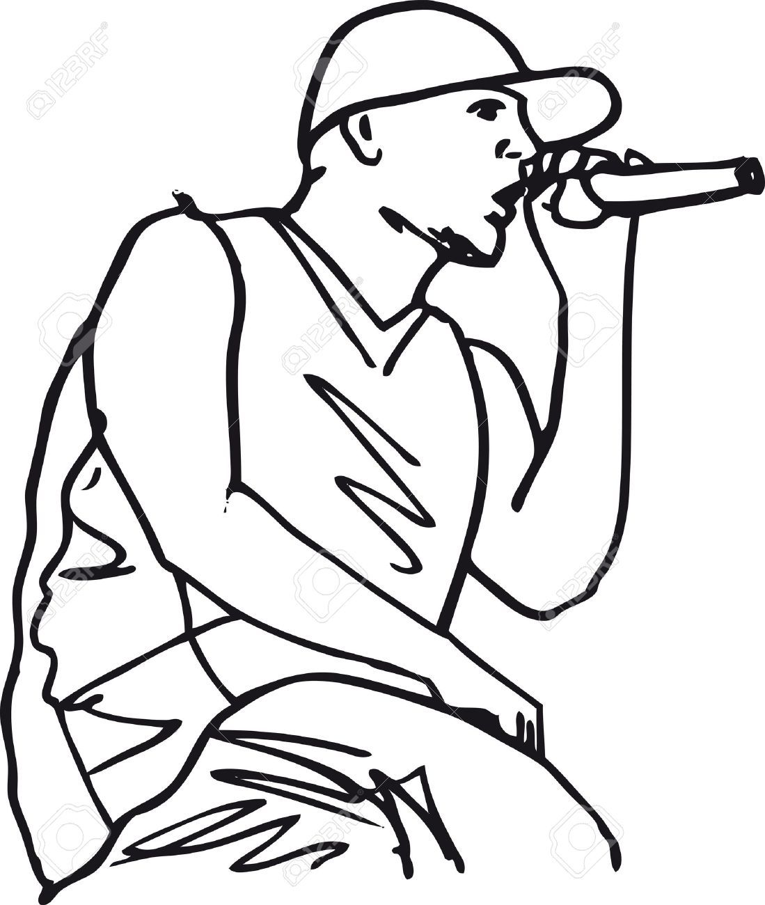 Illistration Hip Hop Google Search Coloring Pages Cartoon Clip Art Vector Illustration
