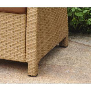 lisbon resin wicker international caravan outdoor settee group