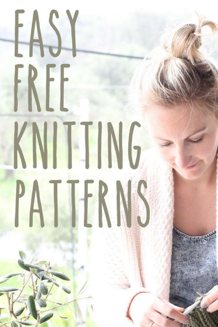 Easy Free Knitting Patterns | Knitting | Pinterest | Costura and Tejidos