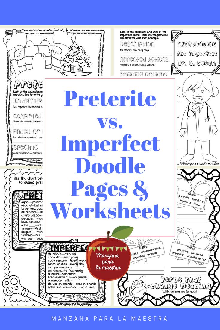 Preterite Vs Imperfect Notes And Worksheet Activities Preterite Grammar Worksheets Basic Spanish Grammar [ 1102 x 735 Pixel ]