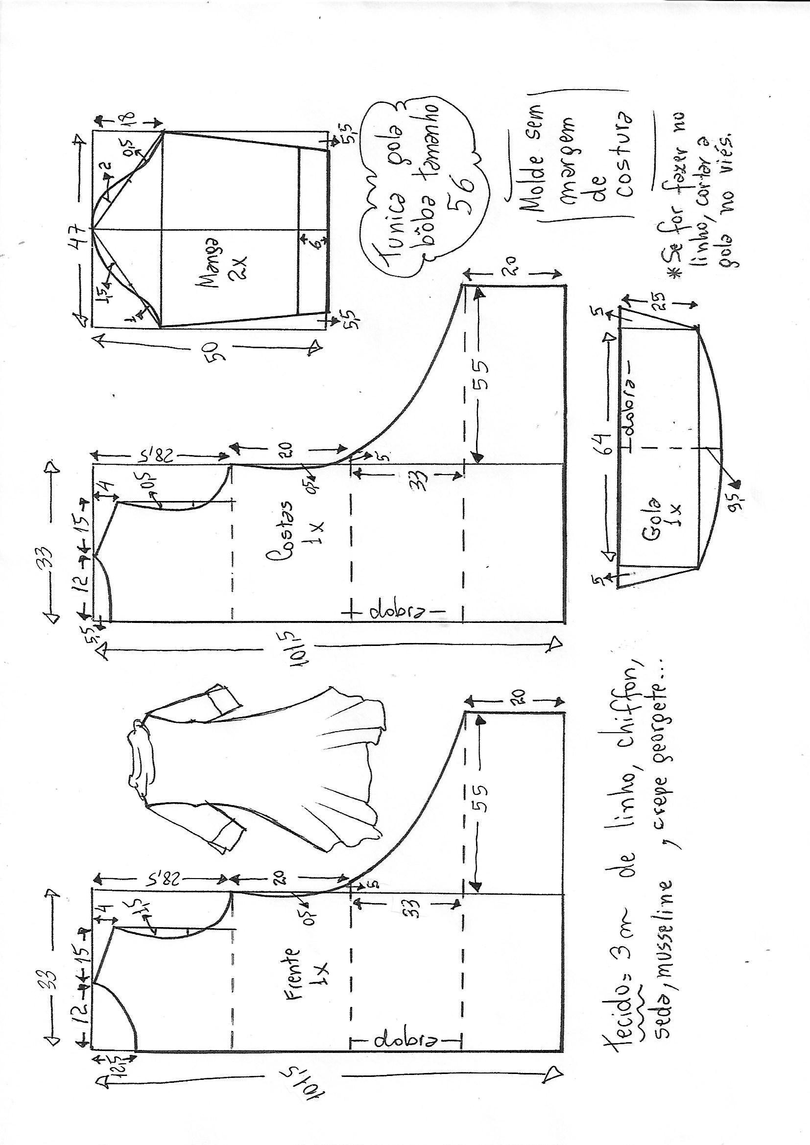 túnica-gola-boba-56.jpg (1654×2338)   Carpeta   Pinterest   Patrones ...