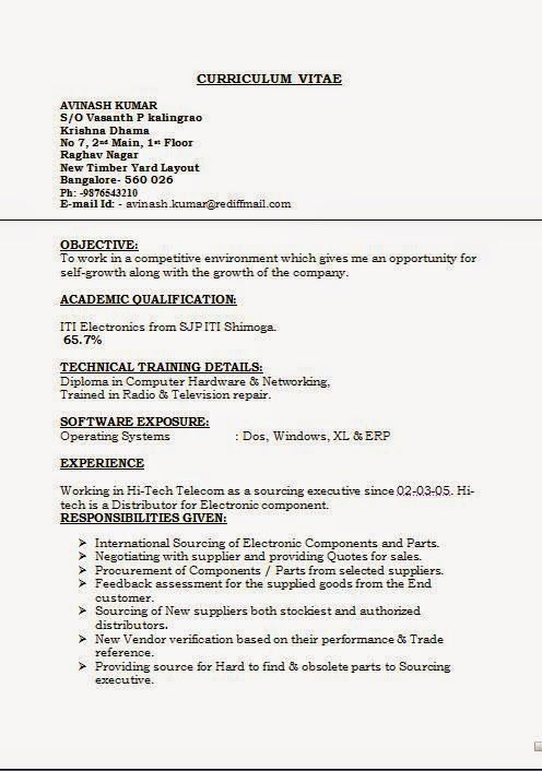how do you write a resume for a job Sample Template Example of - radio repair sample resume