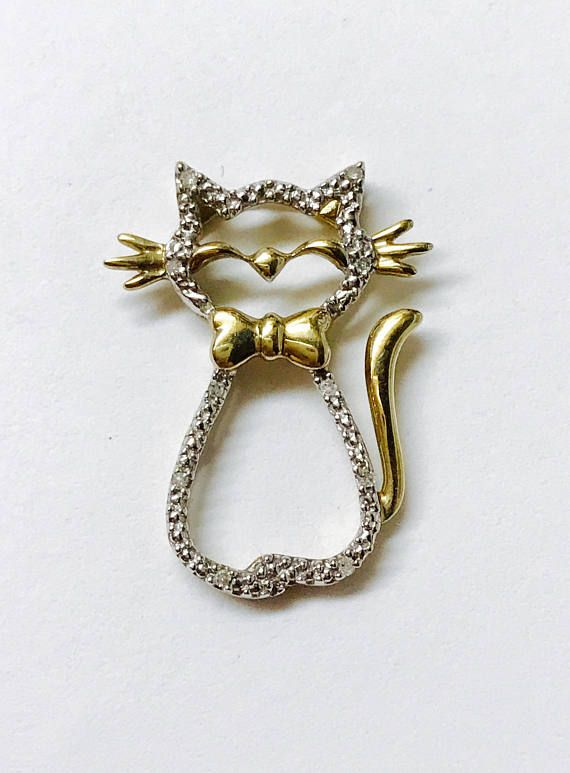 cutout cat pendant