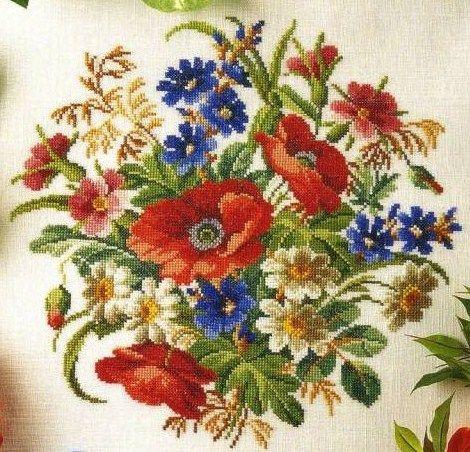 Maki Kwiaty Izyda55 Chomikuj Pl Strona 53 Cross Stitch Flowers Floral Cross Stitch Cross Stitch Patterns Flowers
