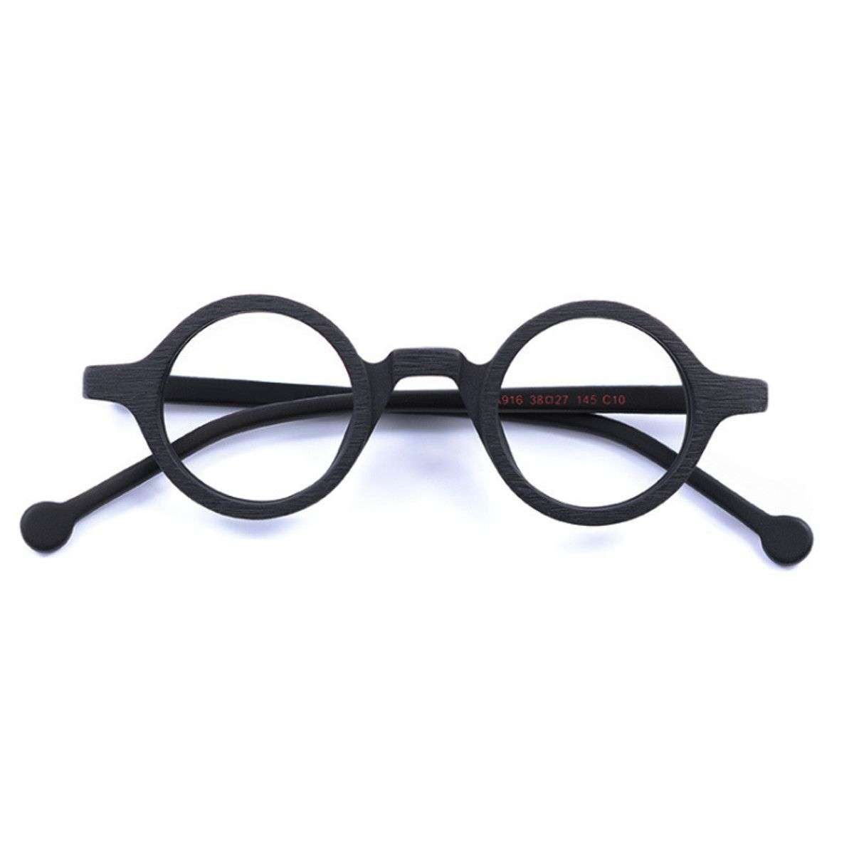 cbc3247637 38mm Vintage Small Round Eyeglass Frames Acetate Rx-able Spectacles Glasses