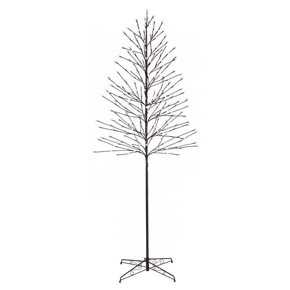 7ft Black Pre Lit Christmas Tree: Philips 7ft Prelit Slim Artificial Christmas Twig Tree