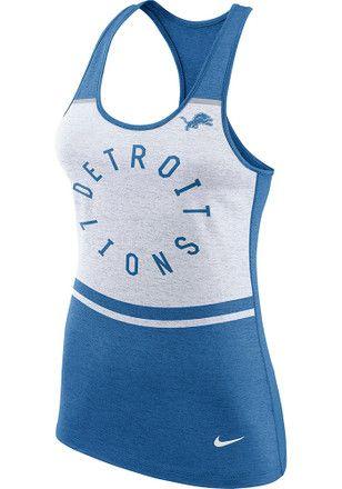 c230f8b6 Nike Detroit Lions Womens White Circle Tank Top | NFL - Detroit ...