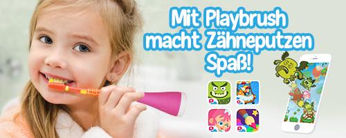 Anzeige : Zähneputzen mit Playbrush – mit Spaß dabei - so gelingt auf spielerische Weise das Zähneputzen // brushing teeth and having fun - a perfect combination with playbrush