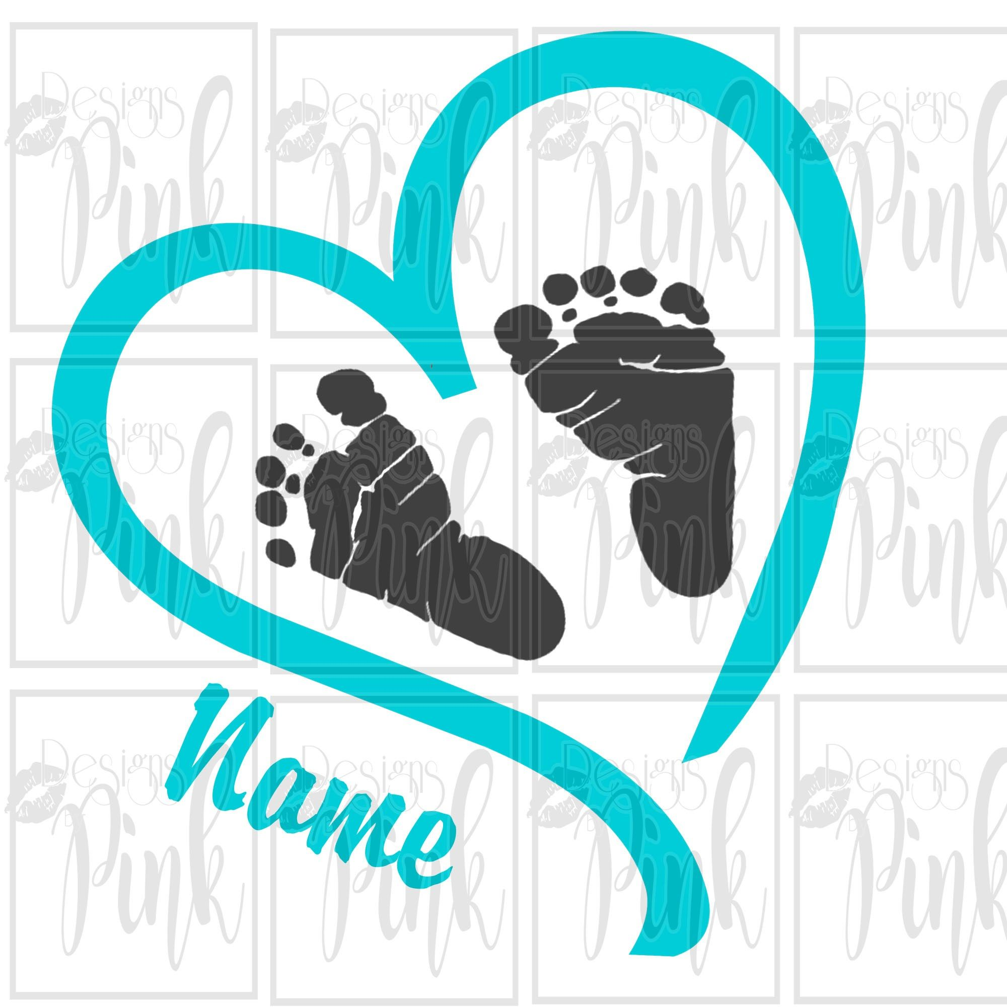 Baby Feet With Heart SVG DIY For Your Home