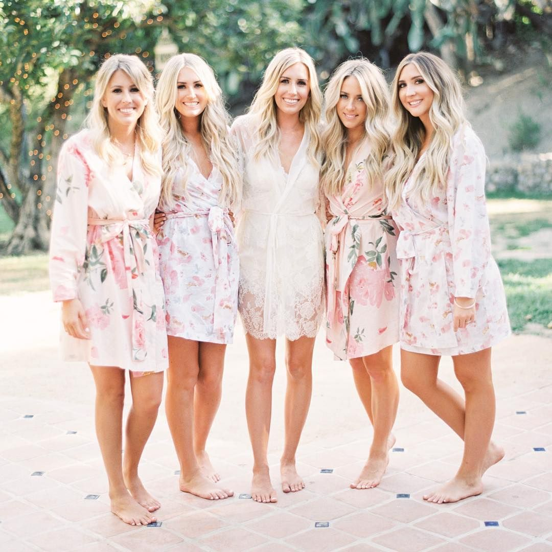 Morning wedding dresses  Bride tribe beauties in Plum Pretty Sugar Oh squadgoals Shop at