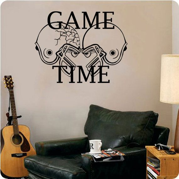 Game Time Football Sports Wall Decal 29w x 22h by ValueVinylArt