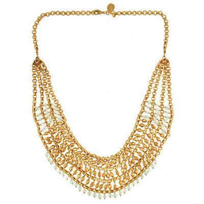 Gold and Aqua necklace