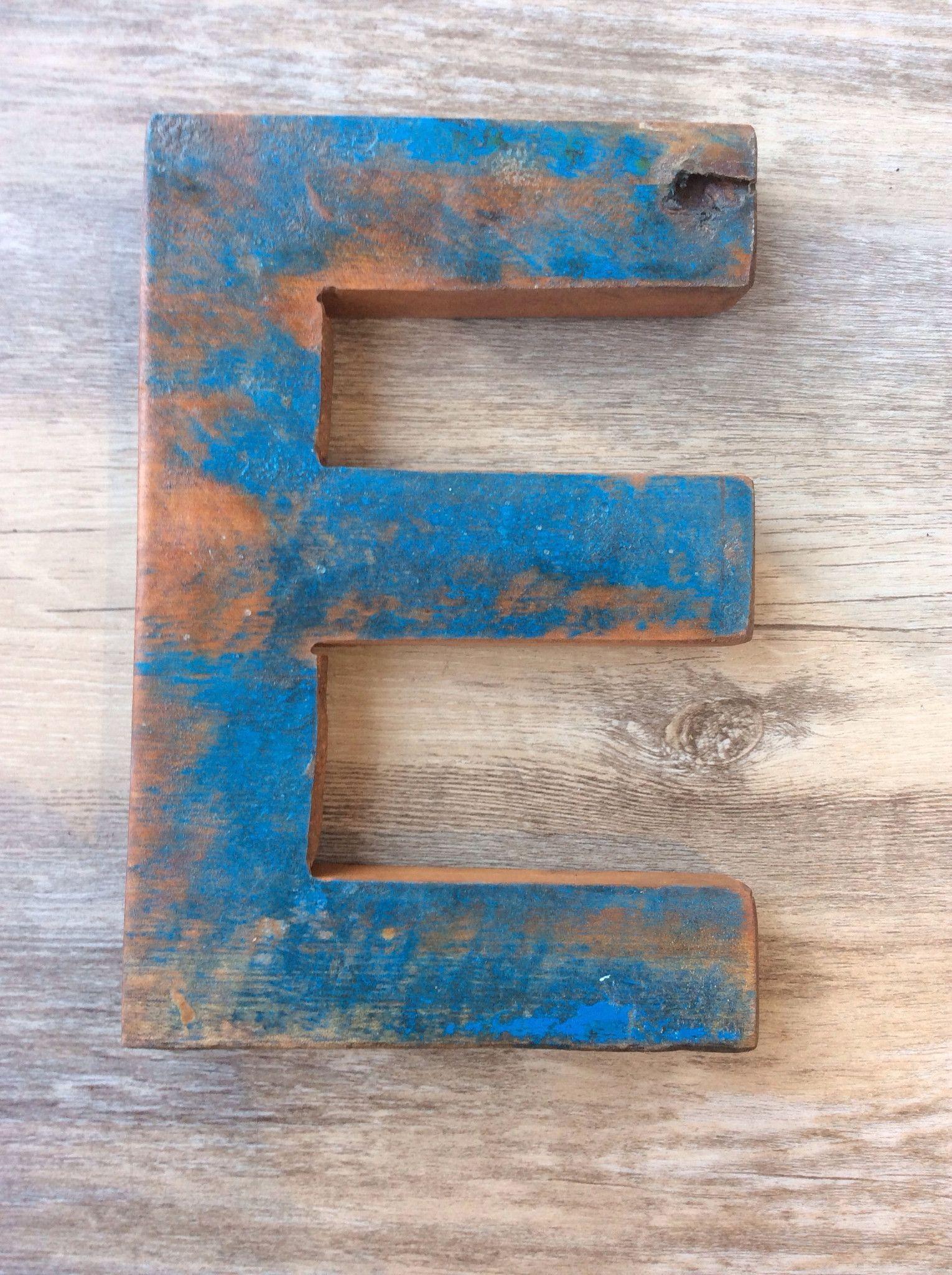 "Letter E Retired Bali Fishing Boat Furniture 7""x4"" E"