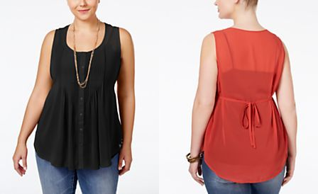 American Rag Plus Size Sleeveless Pintucked Blouse ly at Macy s
