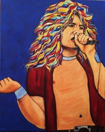 """16x20. Custom. """"Robert Plant"""". by Andrea May Hinton. The Pampered Artist."""
