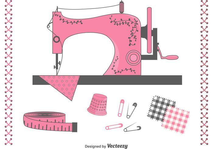 Artículos de costura Set Vector libre - Descargue arte, gráficos e ...