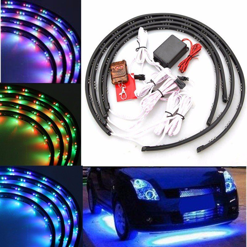 7 color led strip car under glow underbody system neon light kit 7 color led strip car under glow underbody system neon light kit aloadofball Choice Image