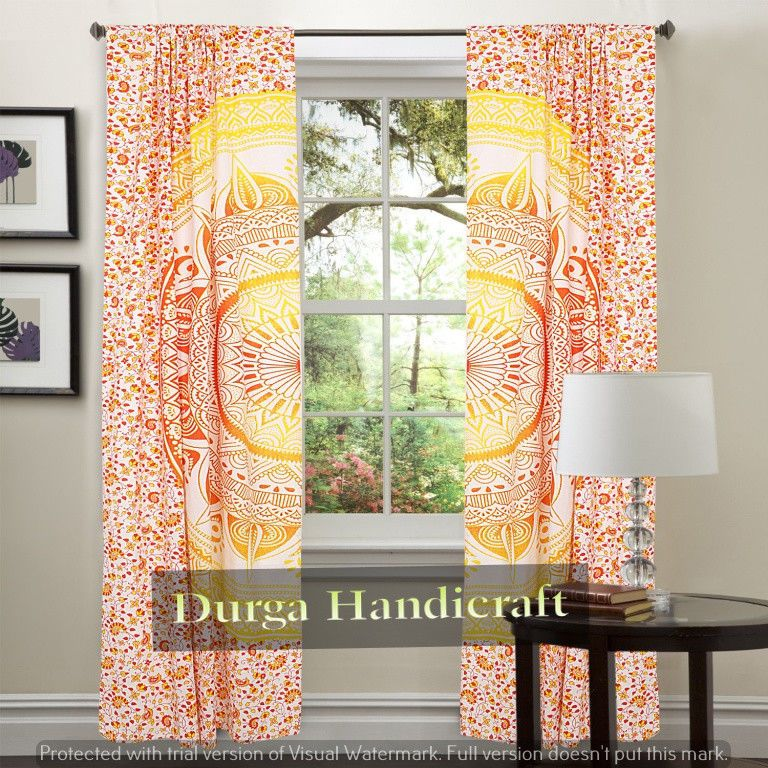 Mandala Door Window Curtain Drape Panel Scarf Valances