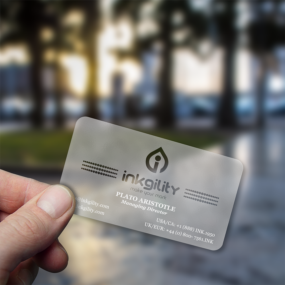 Frosted Business Cards Unlimitedgamers Co