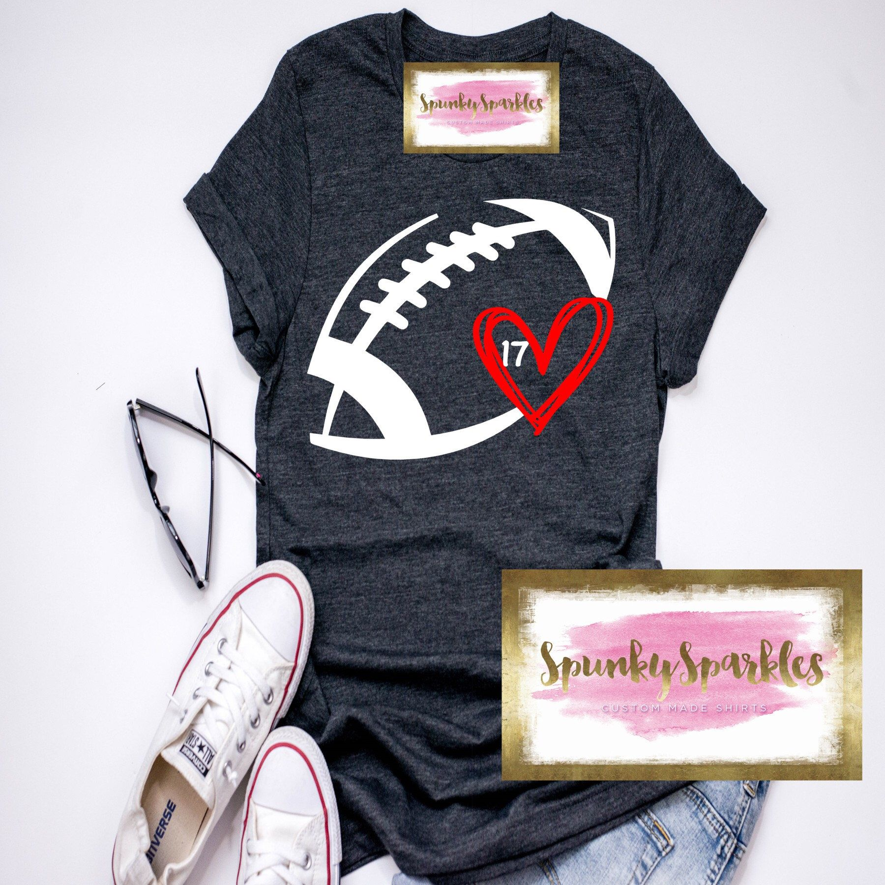 Football Heart Shirt Football Mom Shirts Football Love Shirt