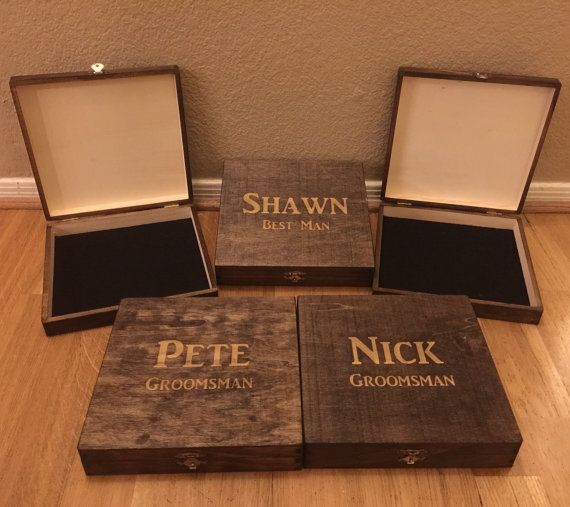 Cigar Box Groomsman Best Man Gift Bridal Personalized Wedding Groomsmen Mens Fathers Day