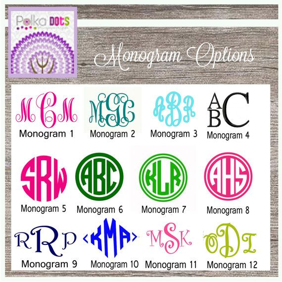 Our Monogram Decals Are Made Of Professional Year Plus Vinyl - Custom vinyl decal application instructionsapplication etsy