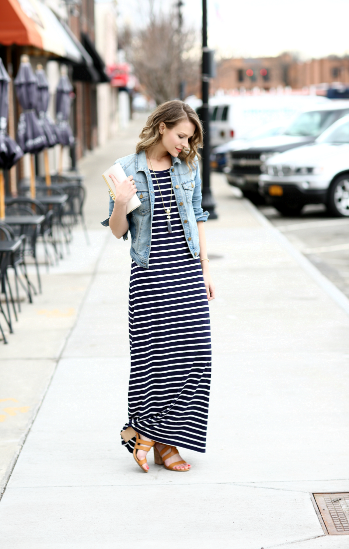 47025d3f34  charmingcharlie Striped Maxi Dress