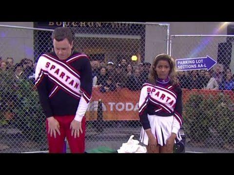 'Spartan Cheerleaders' Willie Geist, Tamron Hall: TODAY's SNL Halloween - YouTube