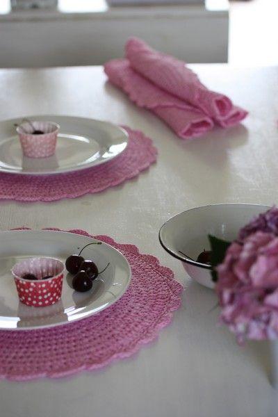 gehäkelte Tischsets gehäkeltes für Haushalt und Deko