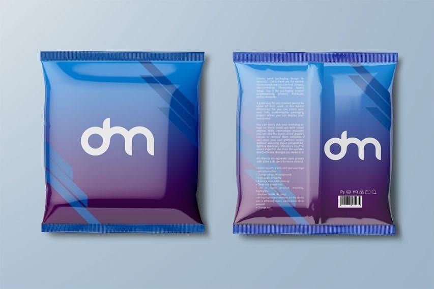 Download Free Foil Snack Packaging Mockup Packaging Mockup Design Freebie Mockup