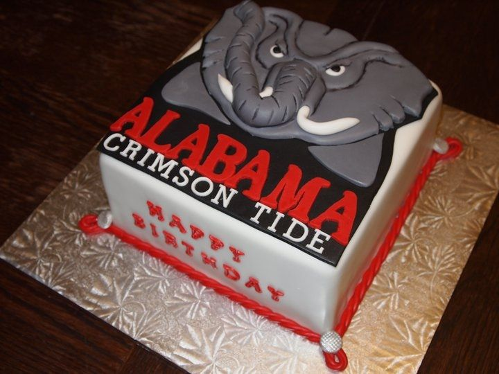 From Cake Central Alabama Crimson Tide cake in Football NFL