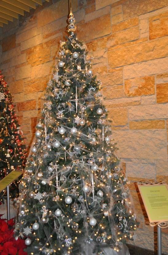 Image result for golden cobwebs on christmas tree