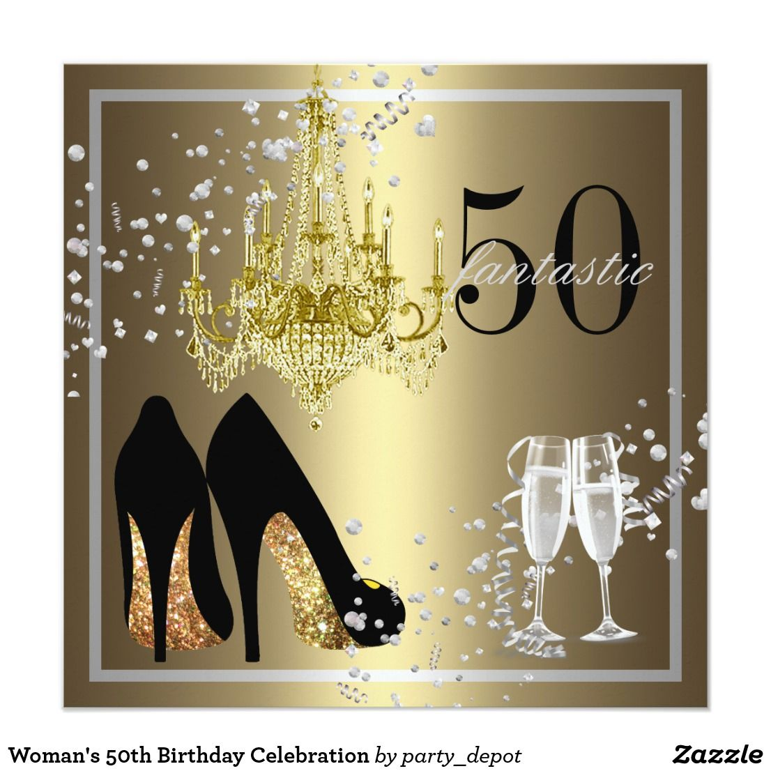 Invitacia N 50 A Celebracia N Del Cumpleaa Os De La Mujer Happy Birthday