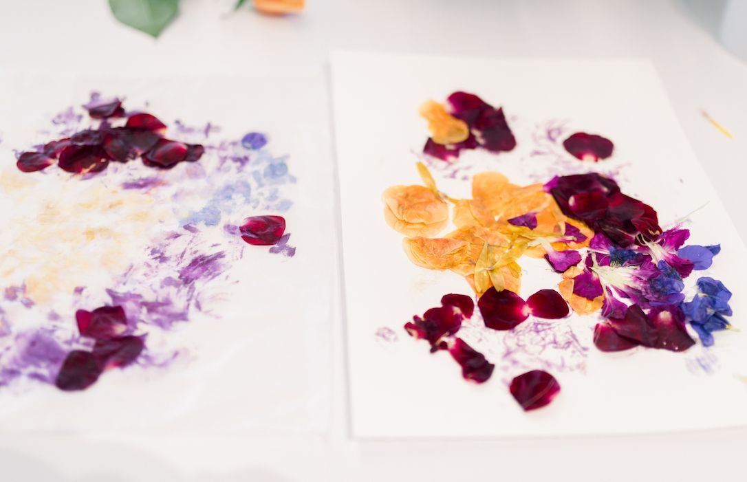 The Subtle Impressions collection was inspired by the vibrant textures and colors achieved in flower pressing.