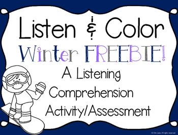 FREEBIE Help students practice their listening skills with this
