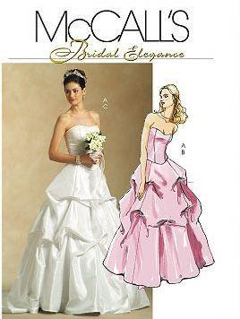 McCalls 5321 Bridal Elegance Sewing Pattern Uncut 14 16 18 20 Printed Wedding Event Top Skirt Boning Floor Length Dated 2007
