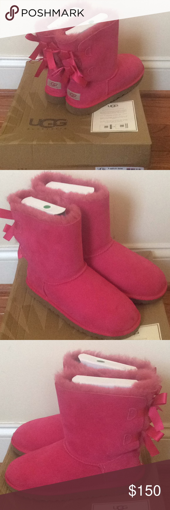 4a8bb0aa7c7 🆕 Authentic pink UGG bailey bow boots New with box Authentic UGG ...