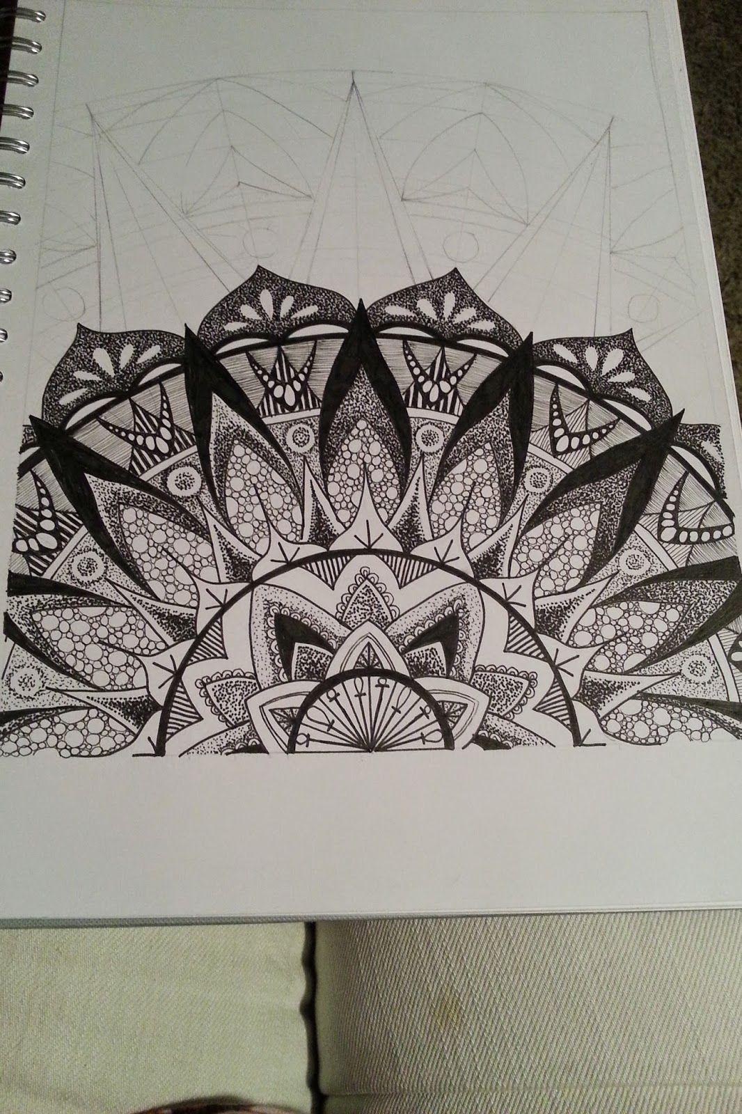 Judys Zentangle Creations Half Mandala Feast Doodles