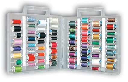 Universal Slimline Thread Storage Box from Sulky  sc 1 st  Pinterest & Universal Slimline Thread Storage Box from Sulky | Things I want to ...