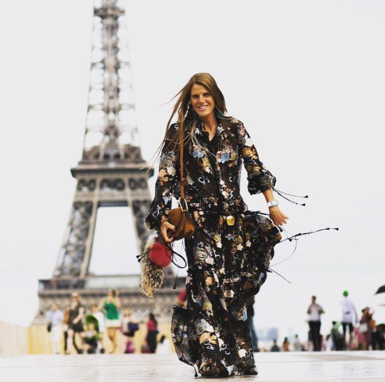 Anna Dello Russo wears Chloe in Paris