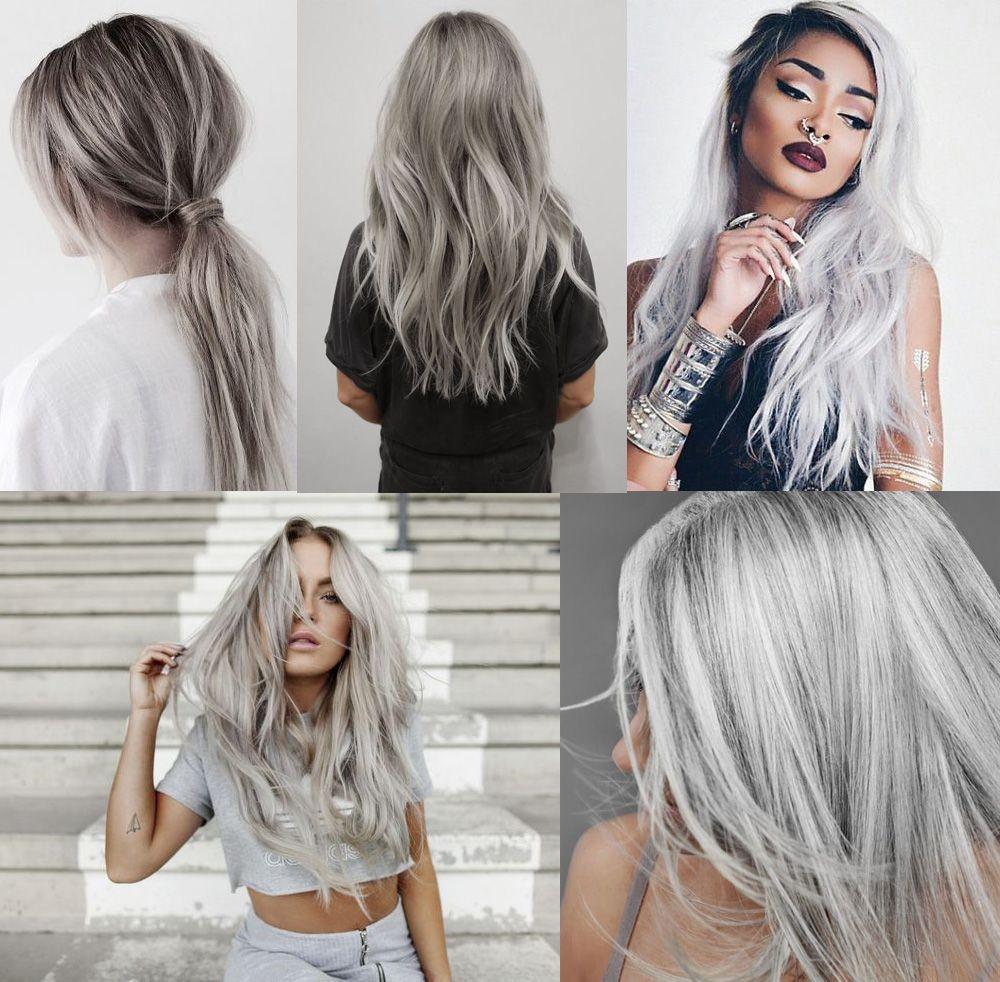 mörk grått hår