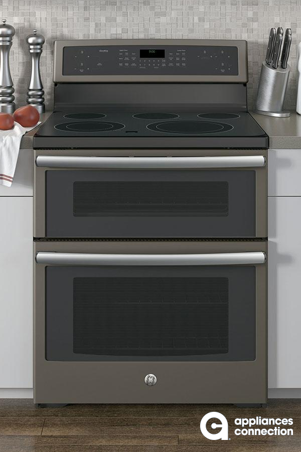 From Ge S Profile Line Comes The New 30 Wide Freestanding Electric Range That S Double Convection Oven Double Oven Electric Range Freestanding Electric Ranges