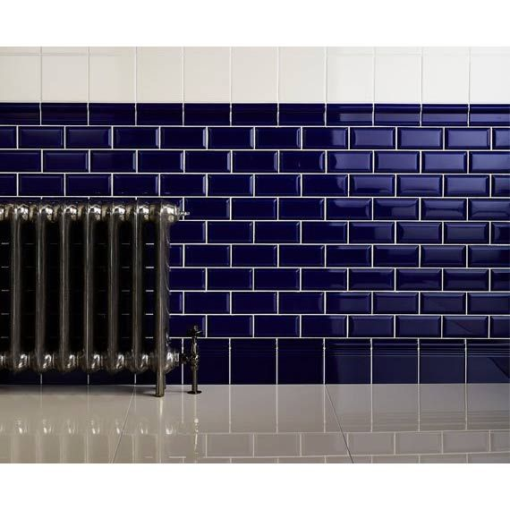 Metro Blue Cobalto 10x20 Cm Ceramic Wall Tile By Fabresa Johnson Tiles Metro Tiles Bathroom Bathroom Wall Tile