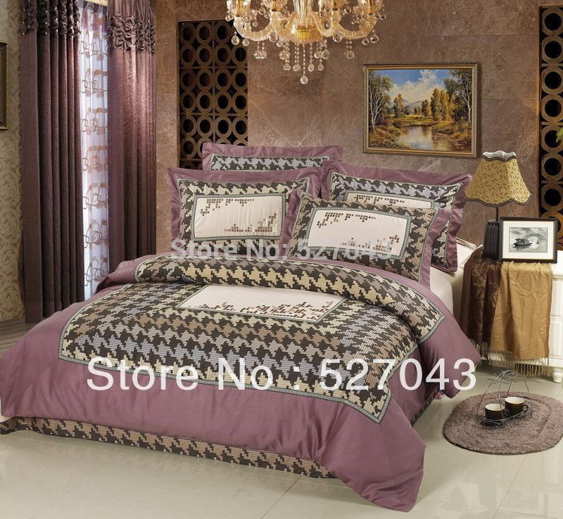The Tetris Stylel Stain Embroider Queen/Full Thick Bedding Set Covers Set ,DBHT007,
