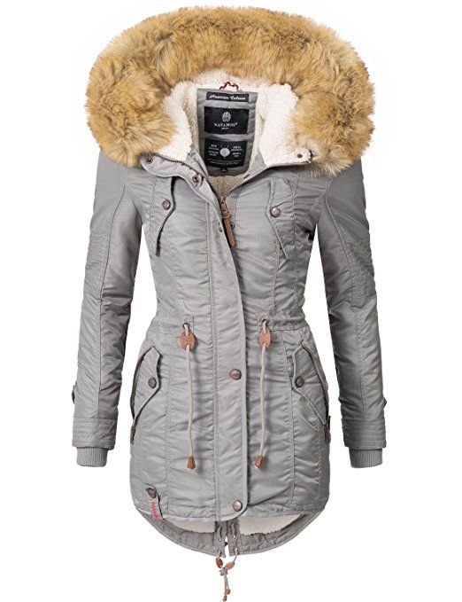 Navahoo Damen Mantel Wintermantel Winterparka La Viva (vegan