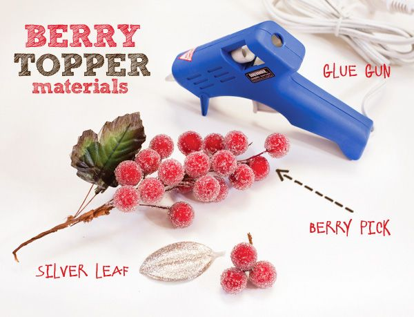 Sparkly Faux Berry Treat Toppers