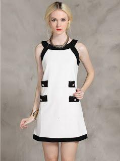 86603e2eb2470 Vestido corto blanco