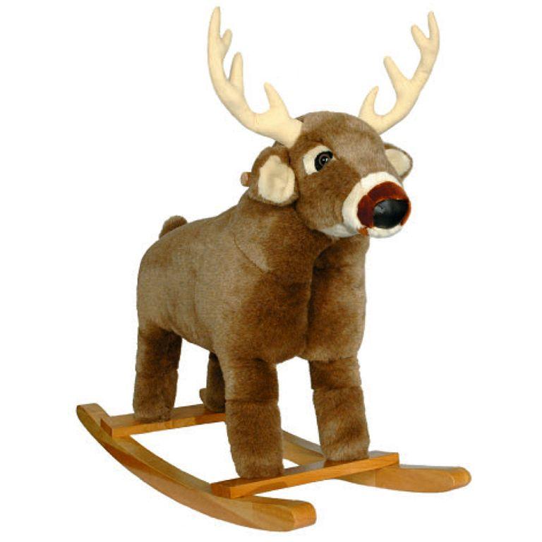 Plush White Tail Deer Rocker From Logfurnitureplace