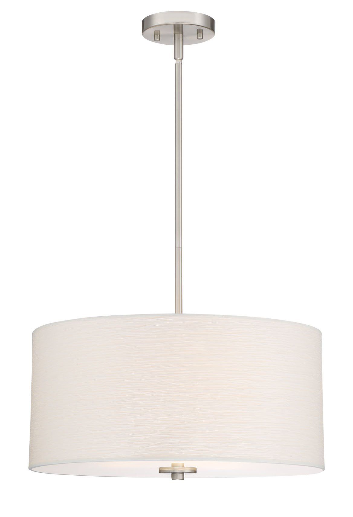 "Revel Pearl 18"" Contemporary 3 Light Drum Chandelier Glass"